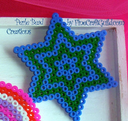 perle beads star ornament