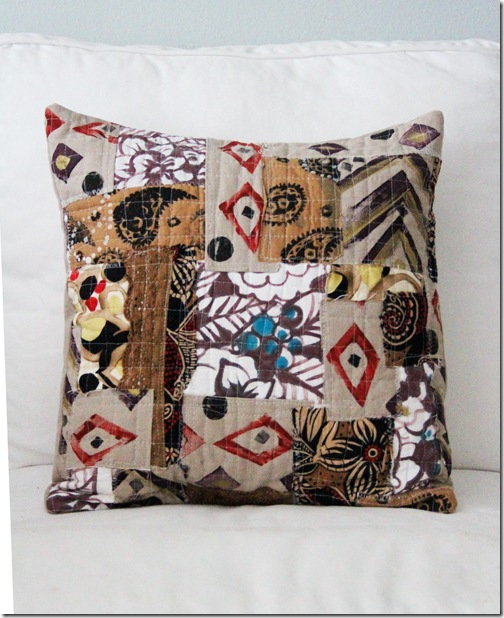 quilted decorative pillows