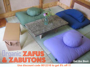 THE BEST organic zafus, zabutons, yoga props and futons