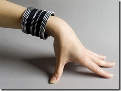 zipper jewelry :: designer bracelet