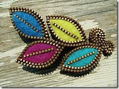 zipper jewelry :: brooch
