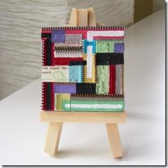 zipper canvas :: recycle old zipper bits :: free DIY tutorial