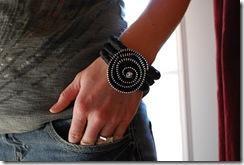 zipper flower :: designer bracelet