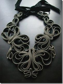 zipper butterfly necklace