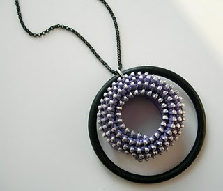 zipper spiral pendant versaci