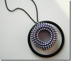 zipper jewelry :: spiral pendant necklace
