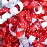 Curly Grosgrain Ribbon for Valentines Day Wreaths