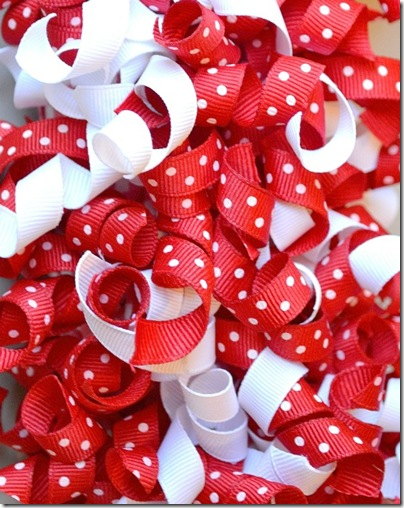 Curly Grosgrain Ribbons for Valentines Day Wreaths