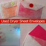 how to make dryer sheet envelops