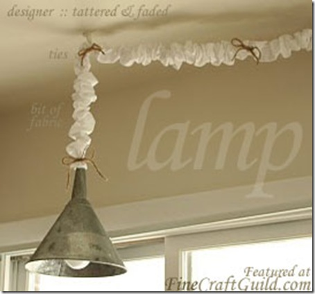 French country lamp dIY project