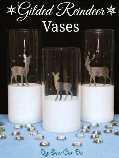 how to gild glass vases or votives :: FineCraftGuild.com