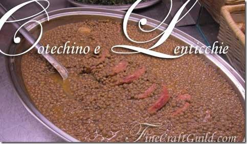 Italian new year recipe lentils sausage