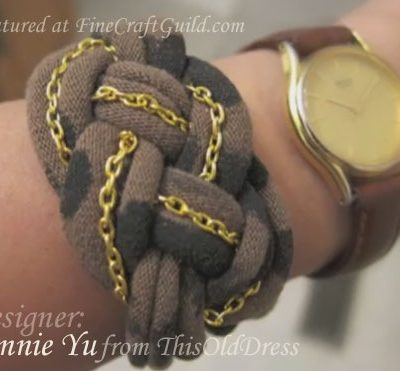 DIY t-Shirt Bracelet: The BEST: Leopard, Knotted, Gold Chained