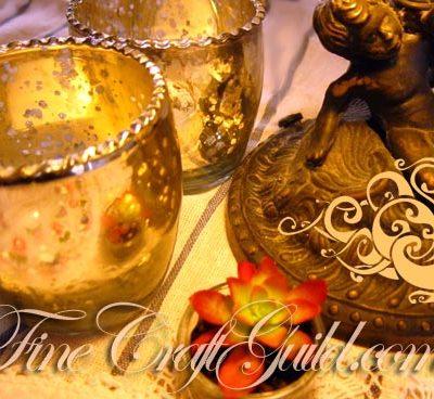 DIY Shabby Chic Mercury Glass Candle Holders