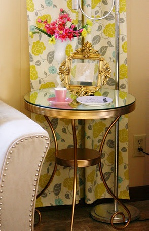 DIY Luxurious Mirror Side Table