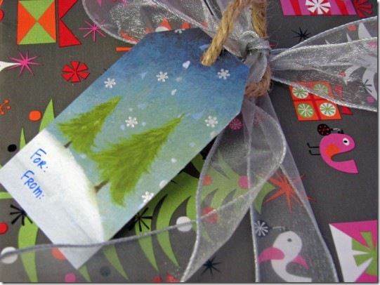 Recycle Holiday Cards into Tags