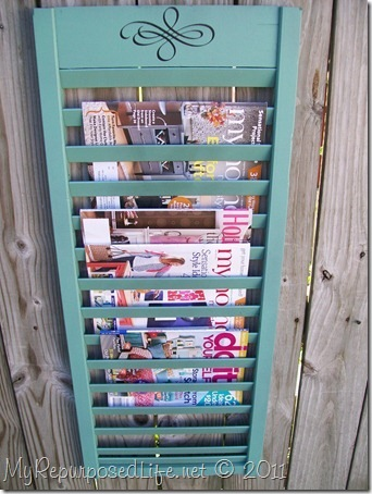 DIY crafts, shutters, magazine racks