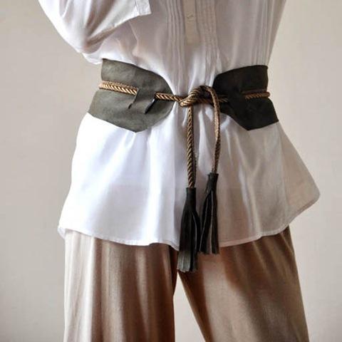 DIY Leather Belts … w Tassels