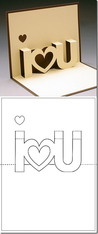 Valentine Pop-up Greeting Cards – I♥U