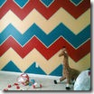 chevron wall paint design
