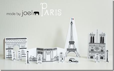 Paris printable paper decorations