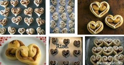 Valentines Gifts ::  Heart Cinnamon Rolls  :: Recipes