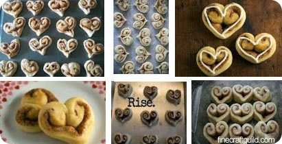 Valentine Hearts Cinnamon Rolls Recipe