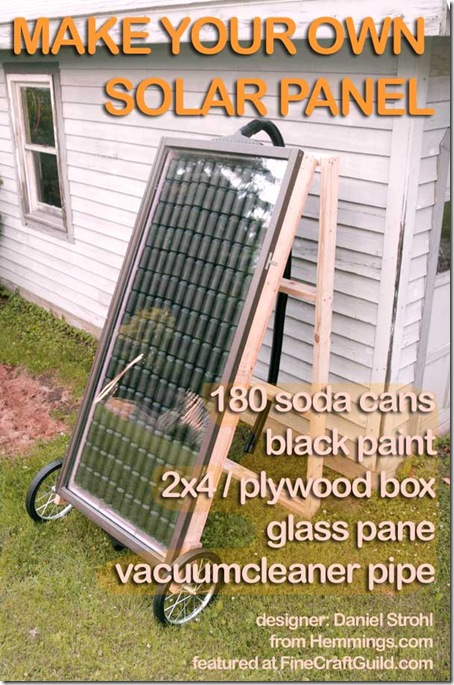 How to make heating solar panels for Make your own solar panels with soda cans