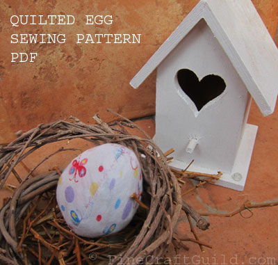 quilted egg sewing pattern