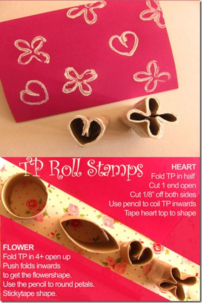 DIY heart cards - toiletpaper roll crafts