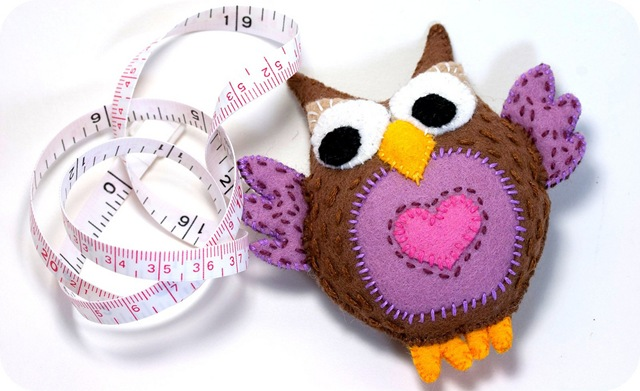 diy felt tutorial owl measuring tape