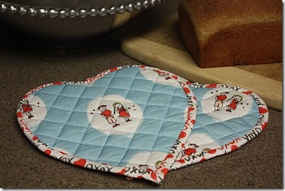 quilted potholders tutorial