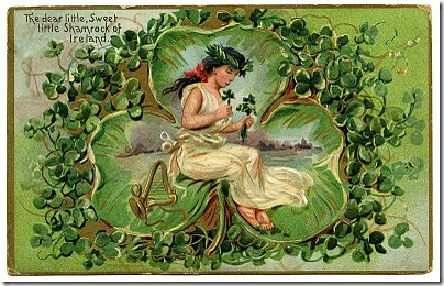 Vintage St Patricks Day Postcard - featured at FineCraftGuild.com