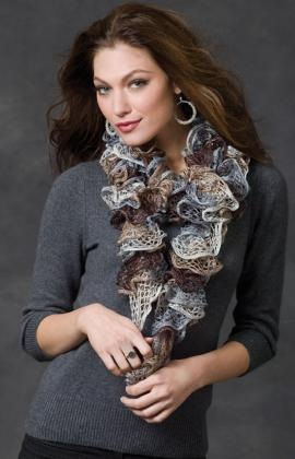 Swirly Scarf Knitting Pattern w Sashay Yarn