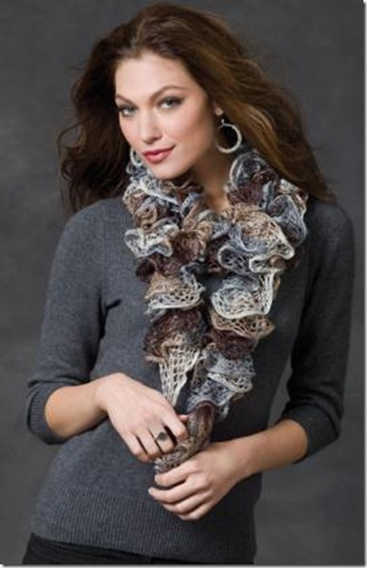 Swirly Scarf Knitting Pattern