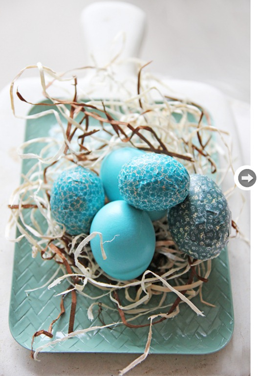 Easter eggs turquoise