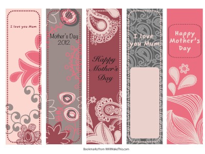Mothers Day Gifts: Colorful Bookmarks
