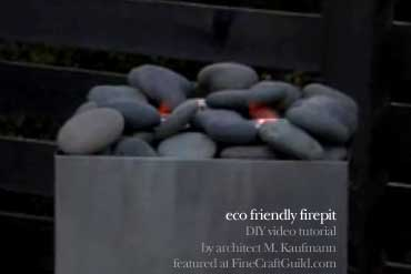 eco-friendly DIY firepit