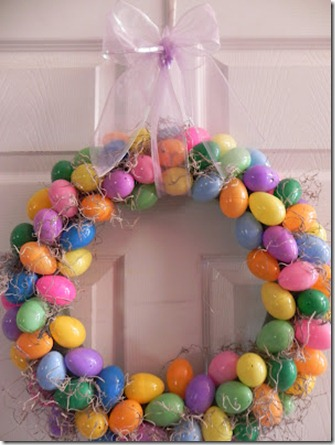 DIY painted Easter Egg wreaths