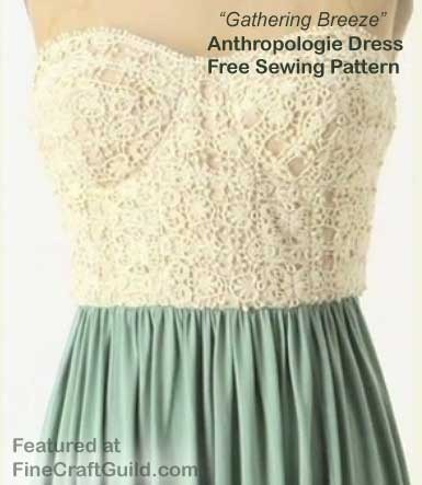 free anthropologie like dress sewing pattern w video