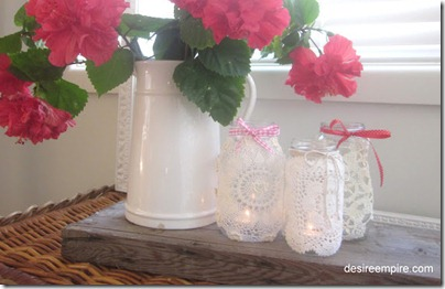 diy doiley lanterns