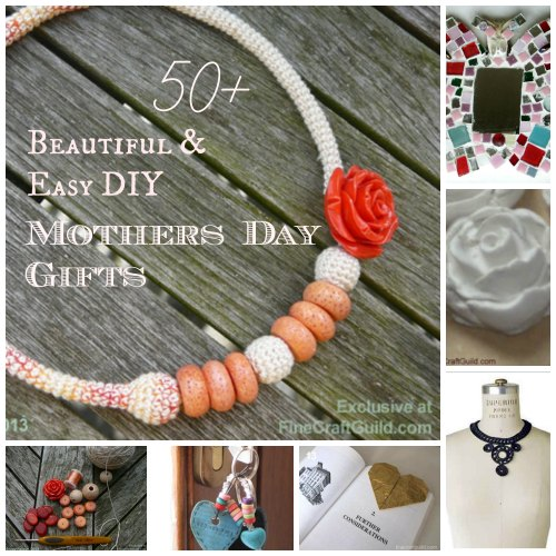 Personalized DIY Mothers Day Gifts ~ free tutorials ~ FineCraftGuild.com