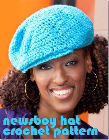 newsboy crochet hat pattern