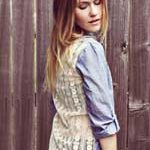 DIY shirt with lace back :: shirt refashioning :: FineCraftGuild.com
