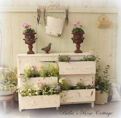Dresser Recycled as Planter