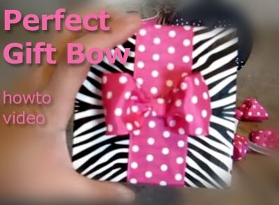 Pretty Gift Bow How-to