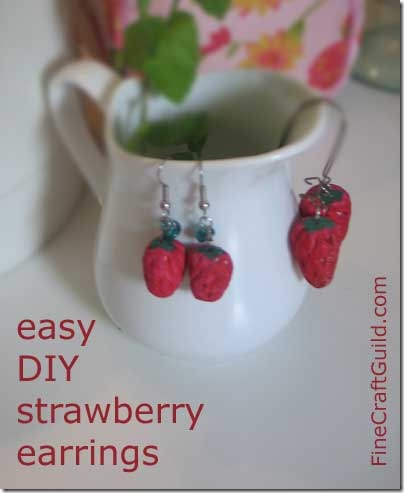 How to Make Strawberry Earrings