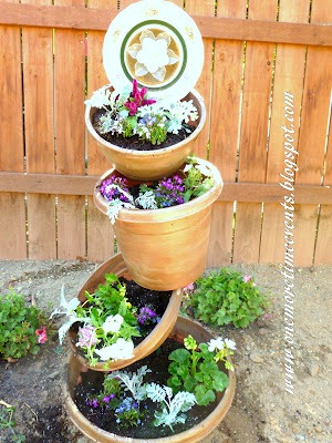 tumbled pot planter
