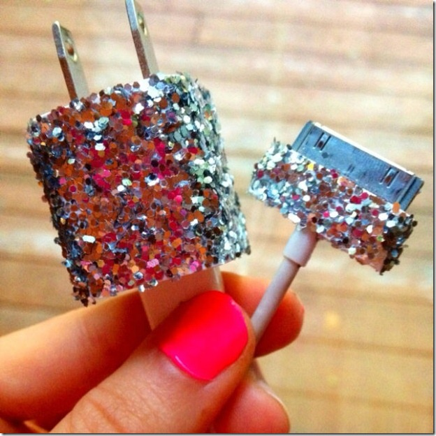 glitter iphone ipad charger