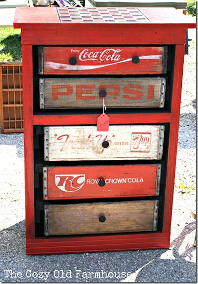 Recycled Furniture: Dresser Made of Coke Crates